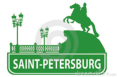 Saint-Petersburg outline