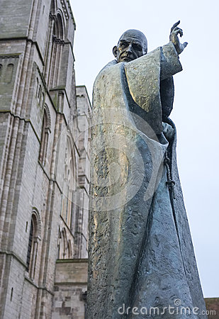 Saint Richard Statue, Chichester Editorial Stock Photo