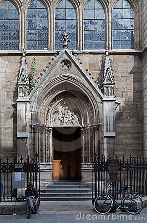 Saint Severin Church Paris Editorial Photography