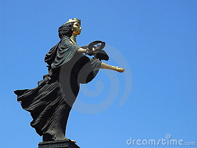 Saint Sofia Statue in Sofia,BG Editorial Stock Image