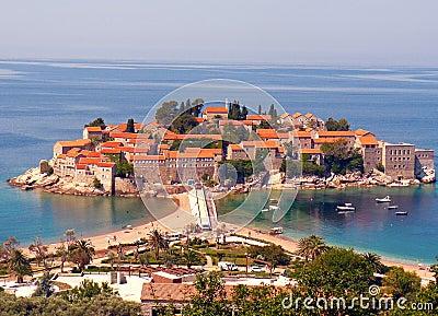 Saint Stefan island, Montenegro