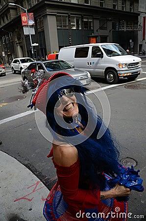 Saint Stupid s Parade Editorial Stock Photo