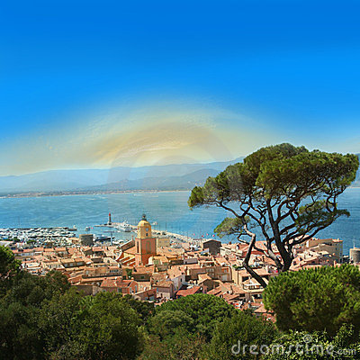 Free Saint Tropez Bay On The French Riviera Royalty Free Stock Photography - 23740857