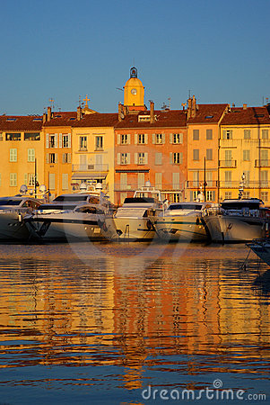 Saint Tropez in the evening light