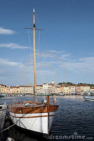 Saint Tropez harbor.