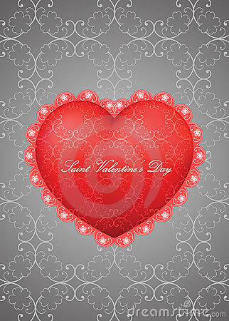 Saint Valentine s Day greeting card