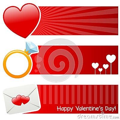 Saint Valentine s Day Horizontal Banners