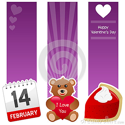 Saint Valentine s Day Vertical Banners