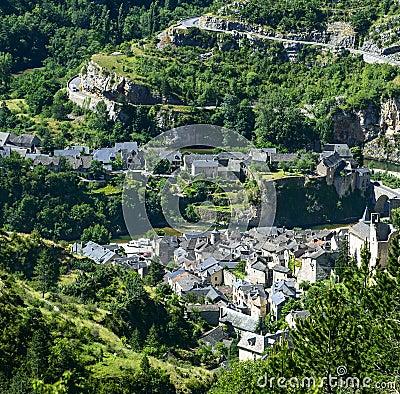Sainte-Enimie, ущелья du Тарн