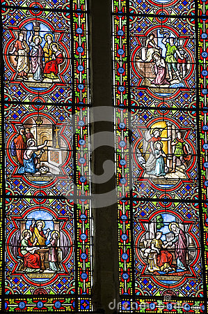 Sainte-Suzanne - Stained glass