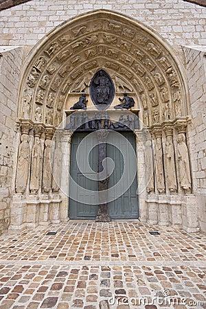 Saints at the entrance