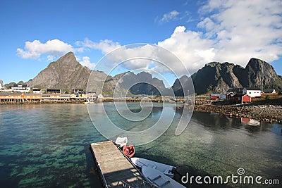 The Sakrisoy island s fjord