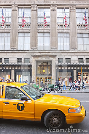 Saks Building, New York City Editorial Stock Image