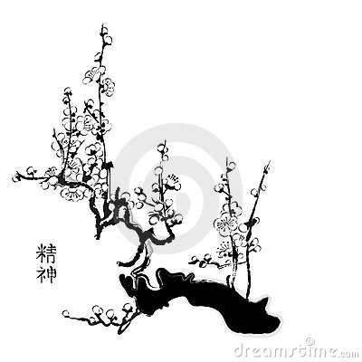 Sakura chinese painting