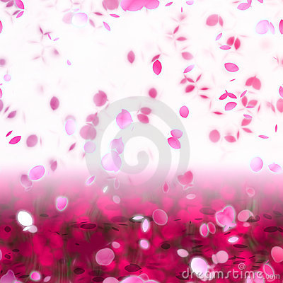 Sakura Snowfall Petals Abstract Background