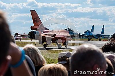 Salón aeronáutico 2013, Radom 30 de agosto de 2013 Foto de archivo editorial