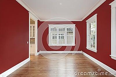 Sala da pranzo con le pareti rosse fotografie stock libere da diritti immagine 12627178 - Pareti sala da pranzo ...