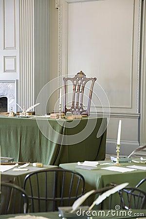 Sala de conjunto restaurada Fotografia Editorial