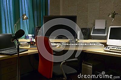 Sala de edição sadia