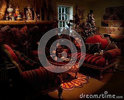 Sala de estar del día de fiesta