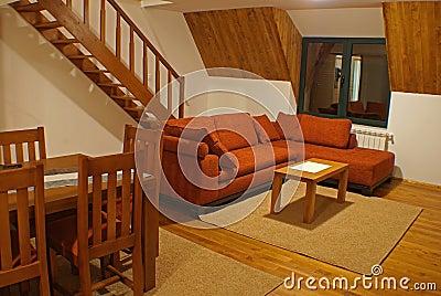 Sala de estar y escaleras imagenes de archivo imagen for Salas con escaleras