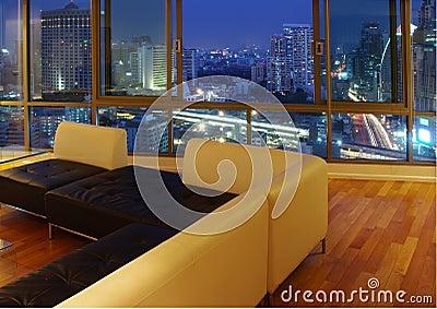 Sala de visitas moderna luxuosa