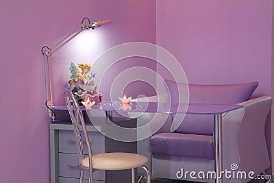 Sala do Manicure em um salão de beleza moderno