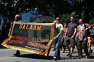 Salaam: Queer Muslim Community, Pride Parade Editorial Stock Photo