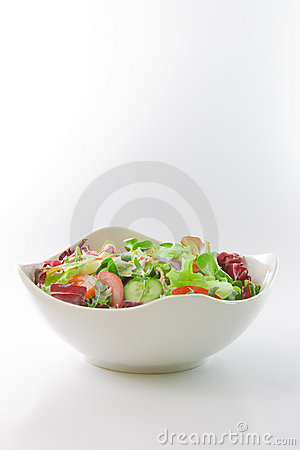 Free Salad Bowl Royalty Free Stock Photography - 4255337