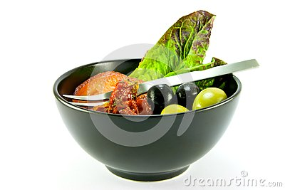 Salad Bowl and Fork