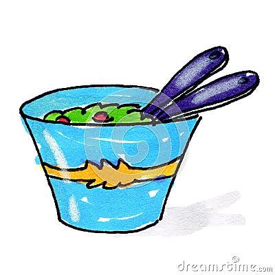 Salad bowl illustration