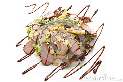 Salad with chocolate