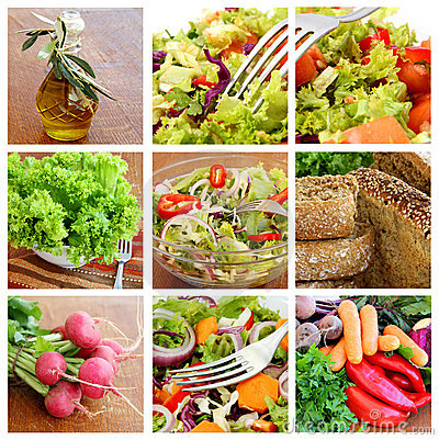 Free Salad - Collage Royalty Free Stock Images - 20294739