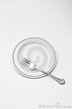 Salad dessert fork and plate