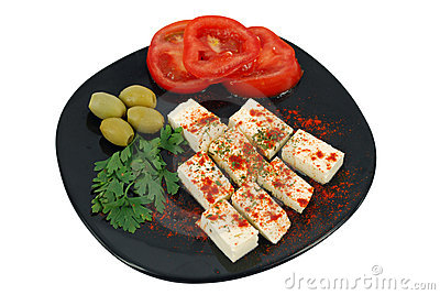 Salad with feta cheese