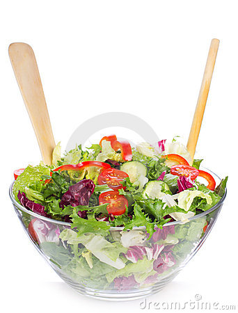Salad with greens and vegetables