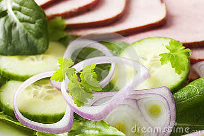Salad with Ham or Corned Beef