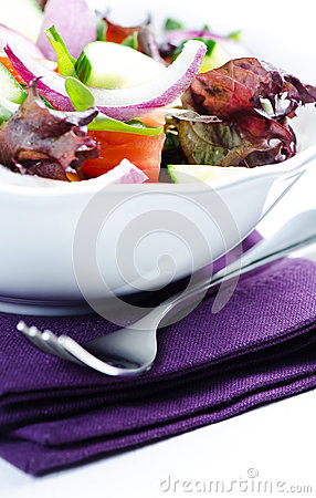 Salad on  napkin