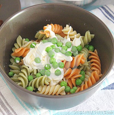Salad of noodles