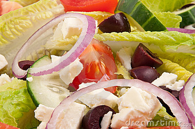 Salad plate for healthy lifestyle