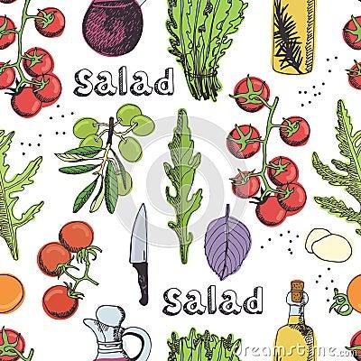 Salad seamless background