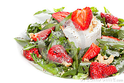 Salad with strawberry