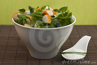 Salad surimi and tzatziki