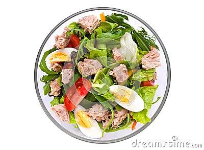 Salad with tuna fish