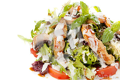 Salad with vegetables and fish