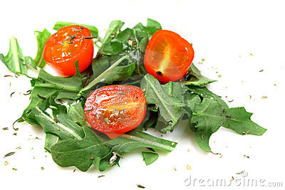 Salad of vegetables tomato