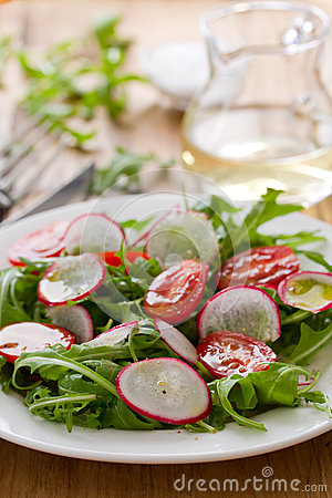 Free Salad With Radish Royalty Free Stock Photography - 53849287