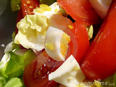 Salada do ovo e do tomate
