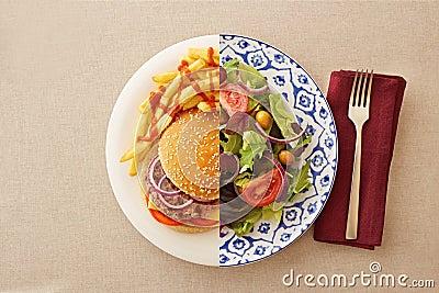 Recettes de salade faibles en gras