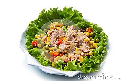 salade de thon avec des mais photo libre de droits image 34103115. Black Bedroom Furniture Sets. Home Design Ideas